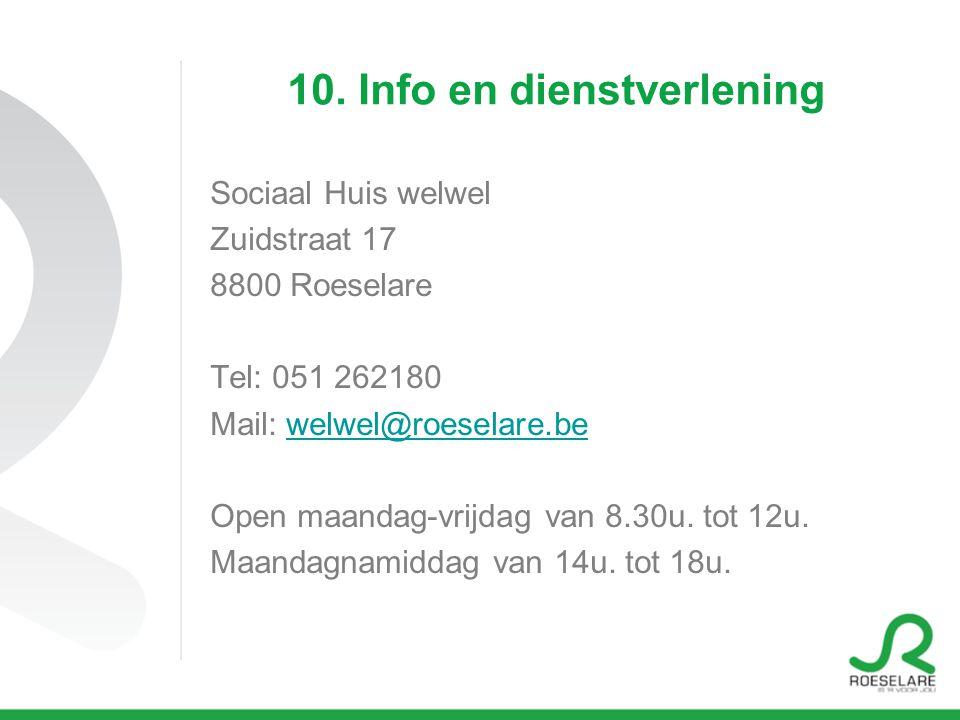 10. Info en dienstverlening