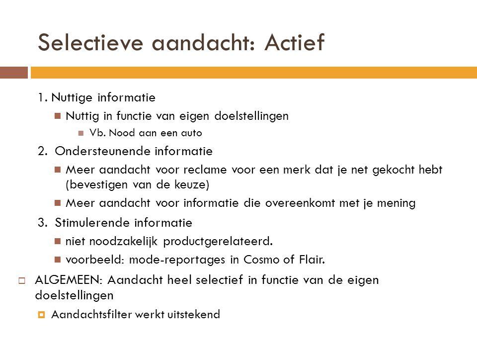 Selectieve aandacht: Actief