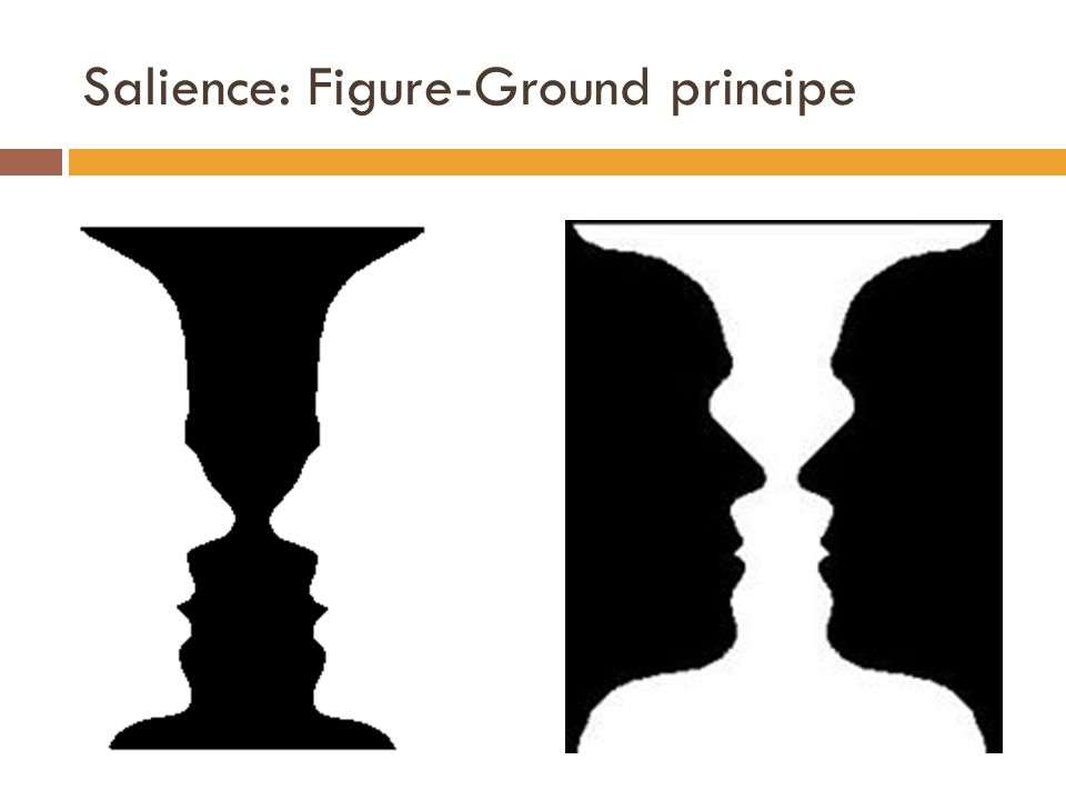 Salience: Figure-Ground principe