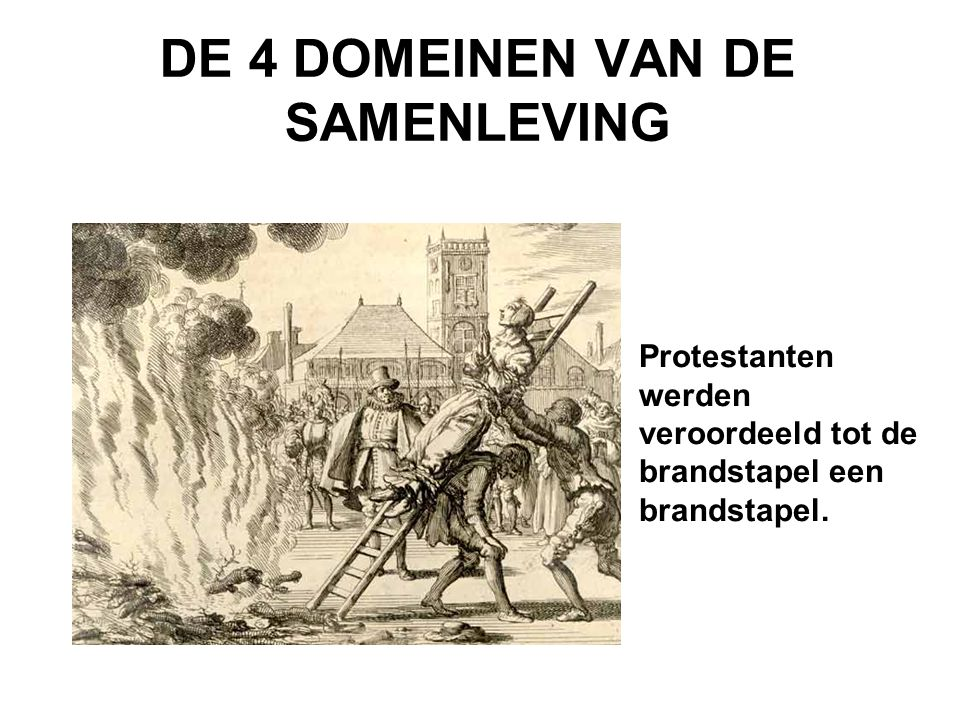 DE 4 DOMEINEN VAN DE SAMENLEVING