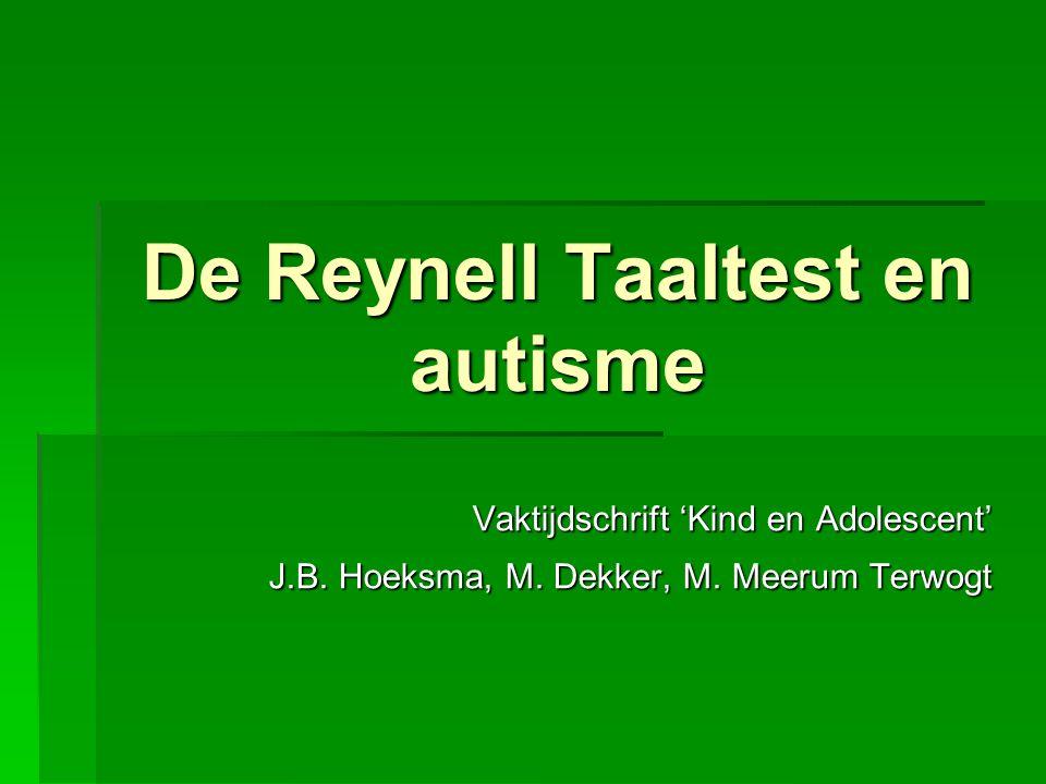 De Reynell Taaltest en autisme