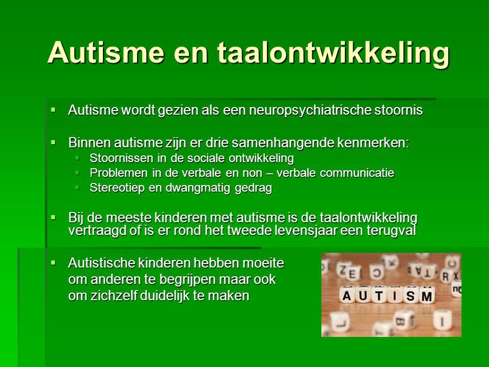 Autisme en taalontwikkeling