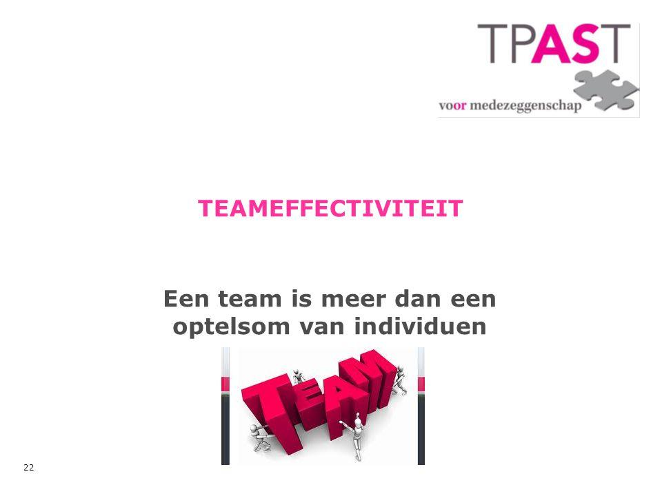 Een team is meer dan een optelsom van individuen