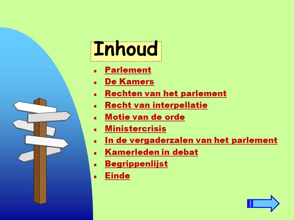 Inhoud Parlement De Kamers Rechten van het parlement