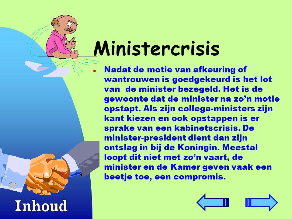 Ministercrisis Inhoud