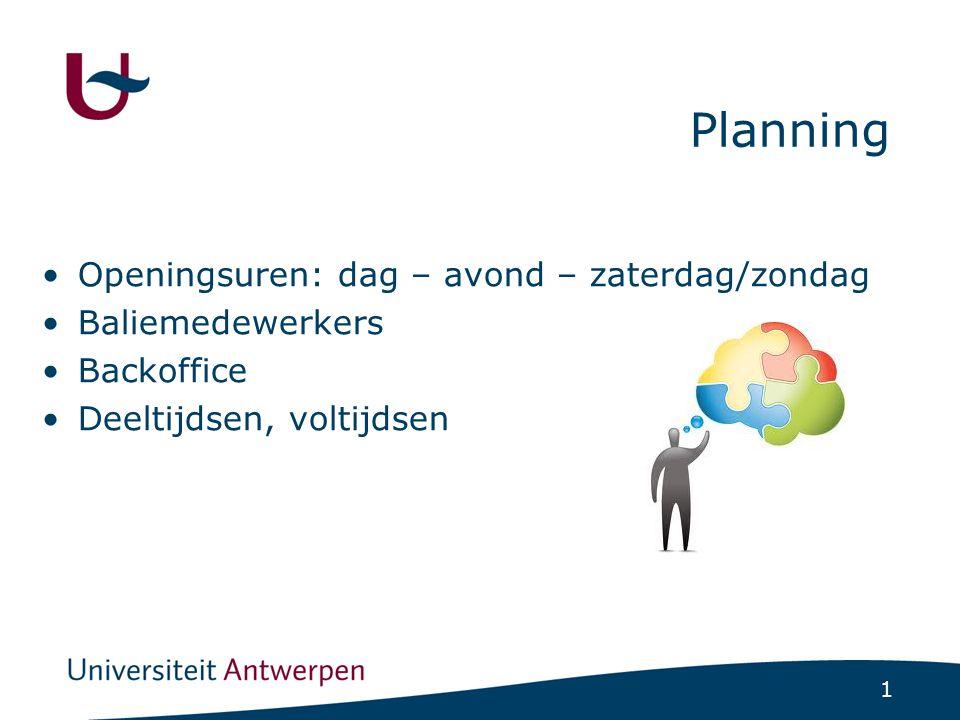 Na de planning