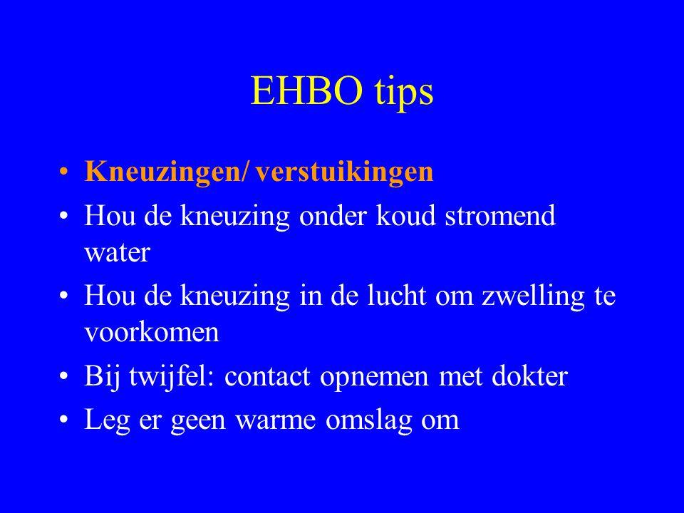 EHBO tips Kneuzingen/ verstuikingen