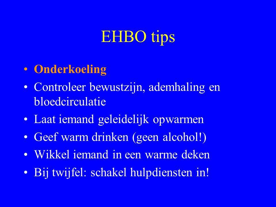 EHBO tips Onderkoeling