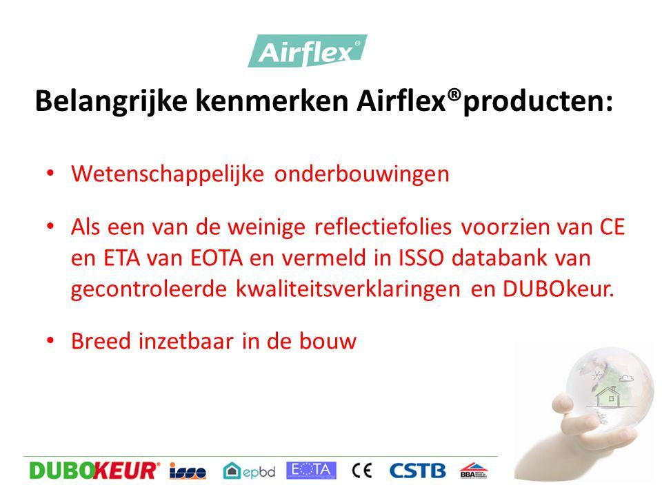 Belangrijke kenmerken Airflex®producten: