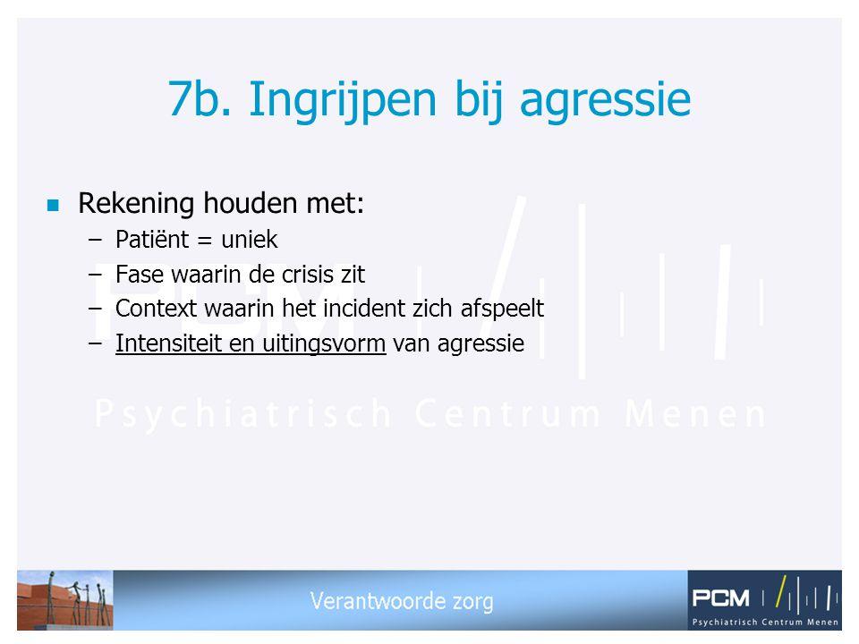 7b. Ingrijpen bij agressie