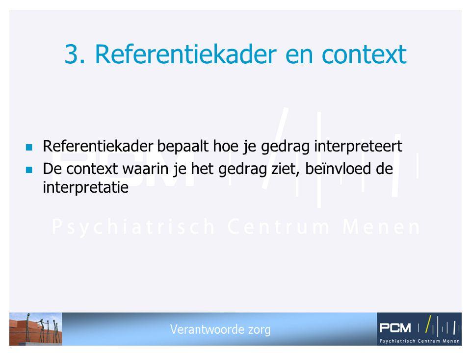 3. Referentiekader en context