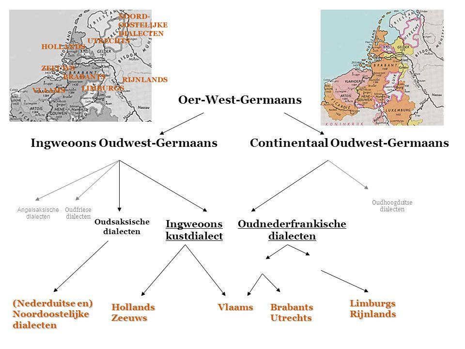 Ingweoons Oudwest-Germaans Continentaal Oudwest-Germaans