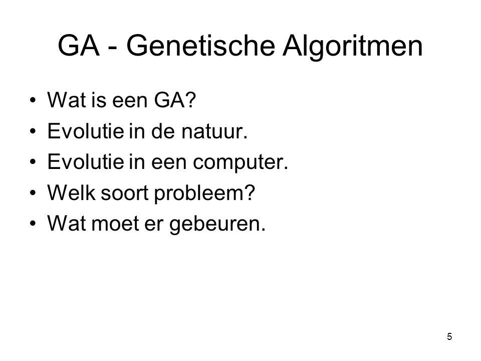 GA - Genetische Algoritmen