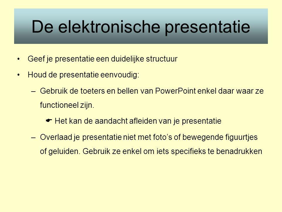 De elektronische presentatie