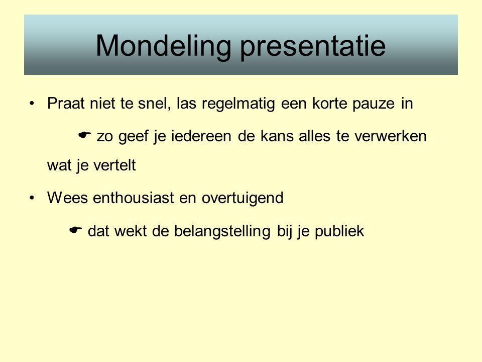 Mondeling presentatie