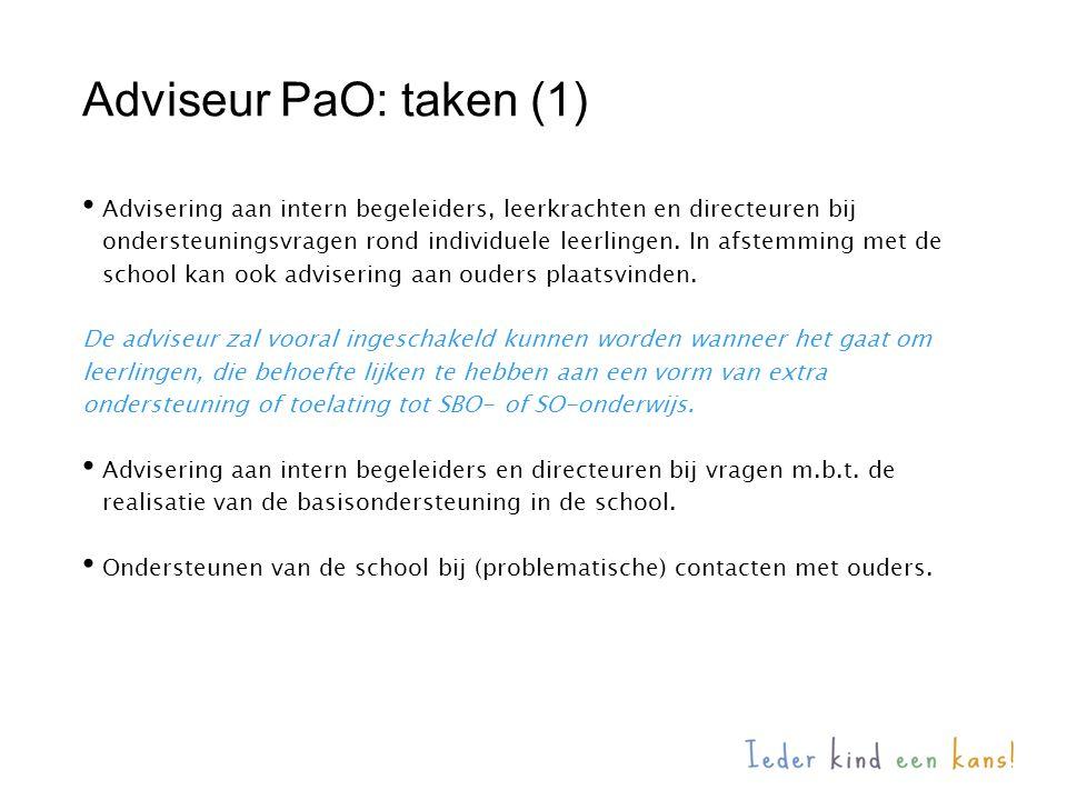 Adviseur PaO: taken (1)