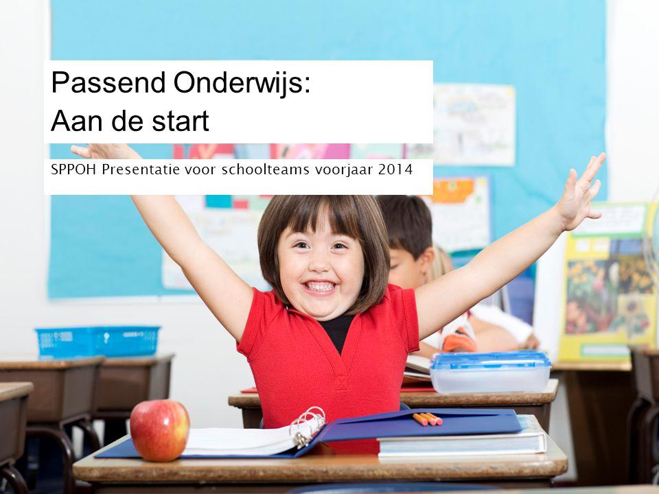 Passend Onderwijs: Aan de start