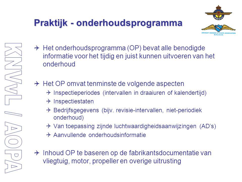 Praktijk - onderhoudsprogramma