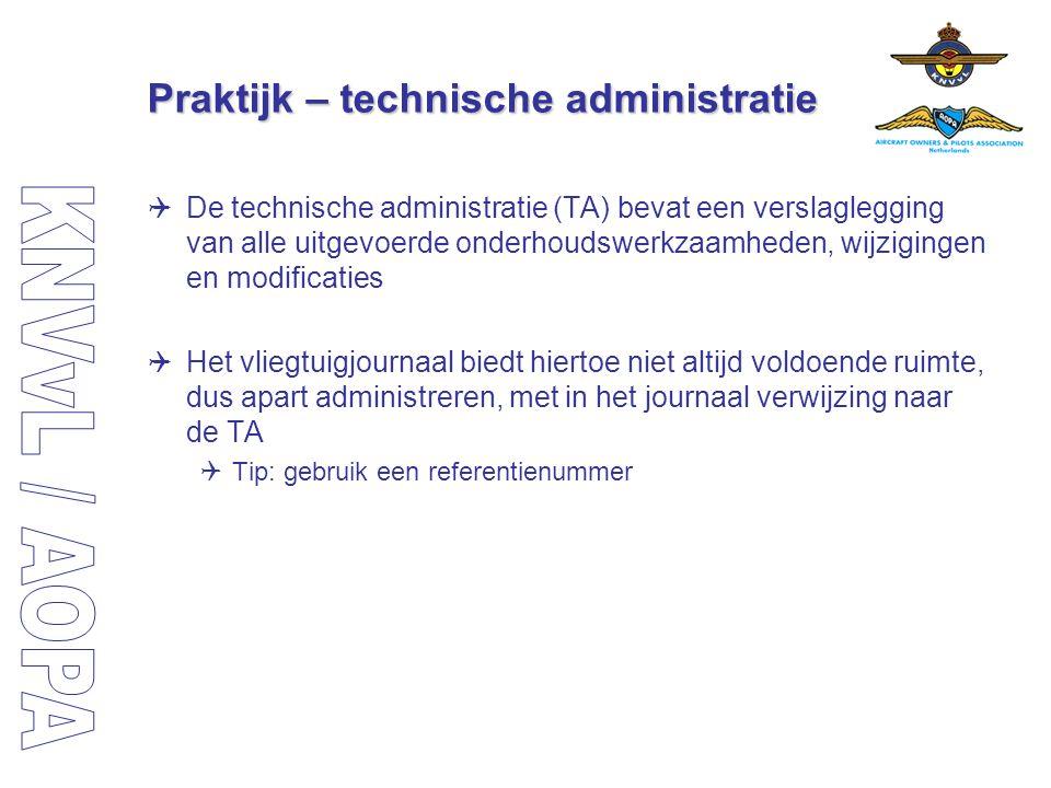Praktijk – technische administratie