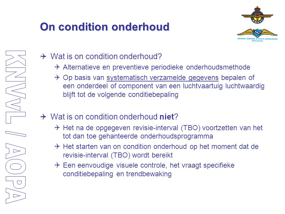 On condition onderhoud