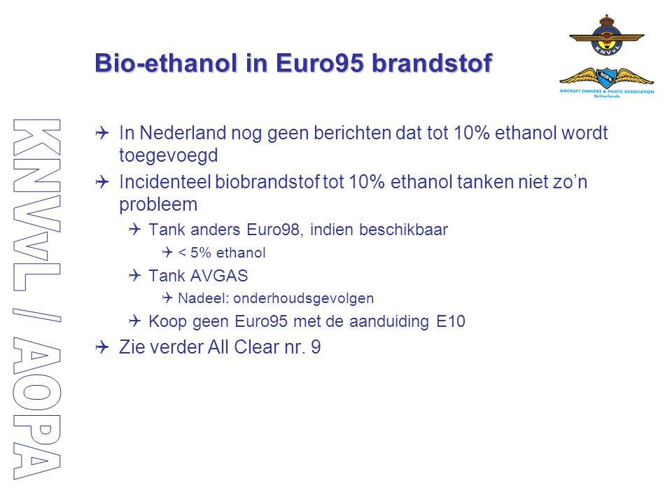 Bio-ethanol in Euro95 brandstof