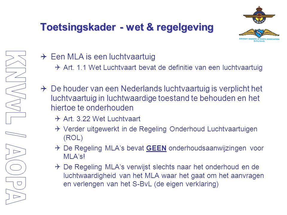 Toetsingskader - wet & regelgeving