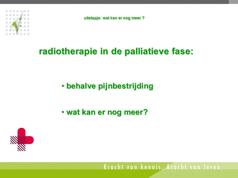 radiotherapie in de palliatieve fase:
