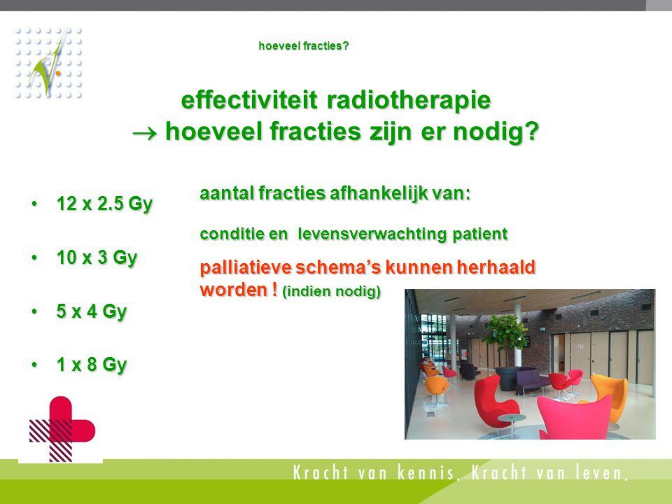 effectiviteit radiotherapie  hoeveel fracties zijn er nodig