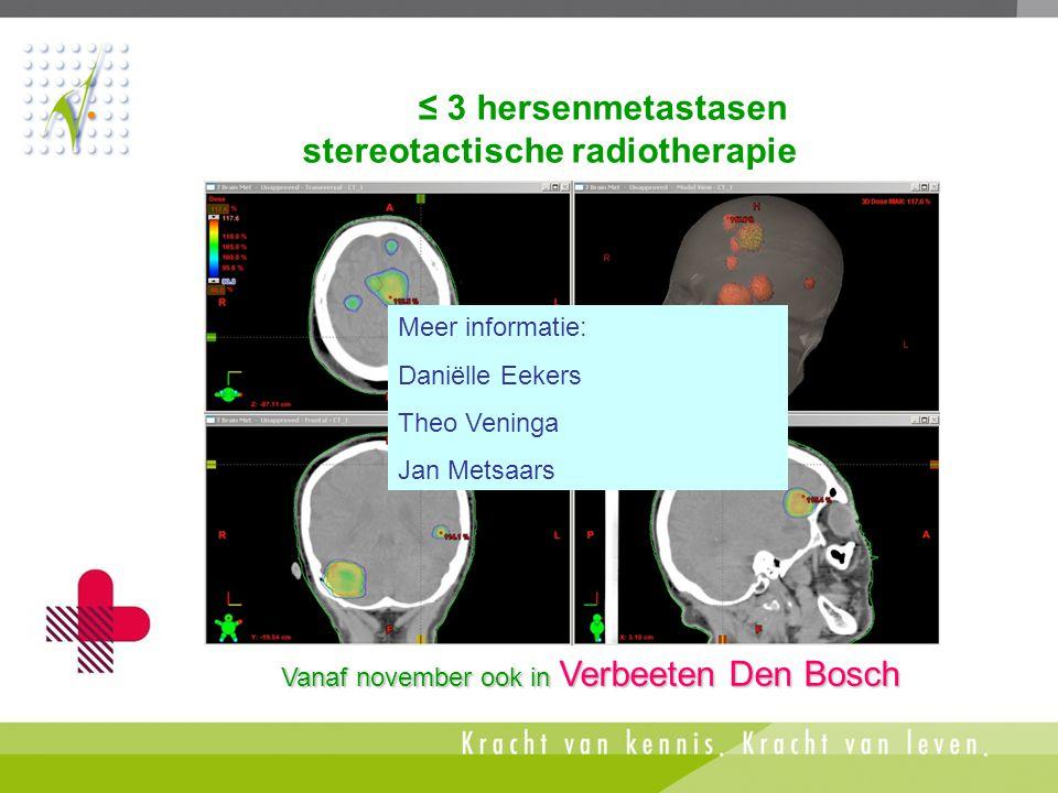 ≤ 3 hersenmetastasen stereotactische radiotherapie