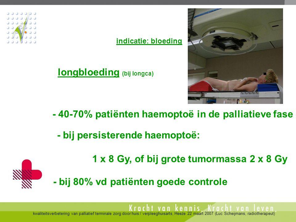 longbloeding (bij longca)