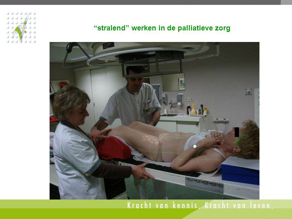 stralend werken in de palliatieve zorg