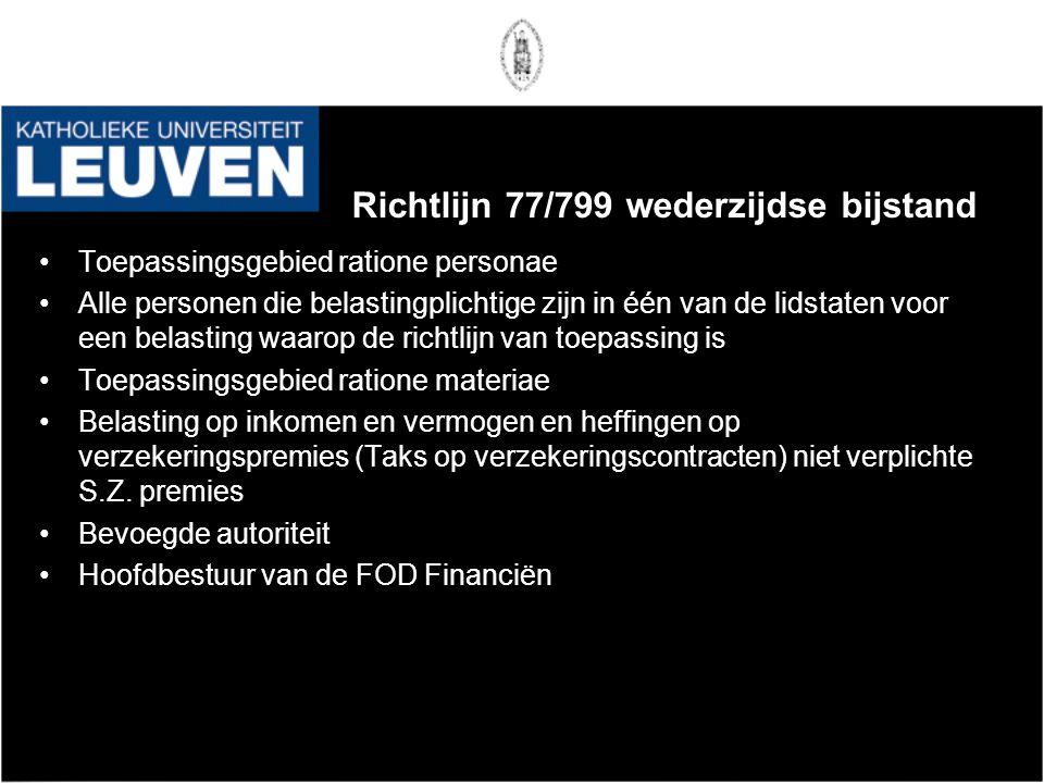 Richtlijn 77/799 wederzijdse bijstand