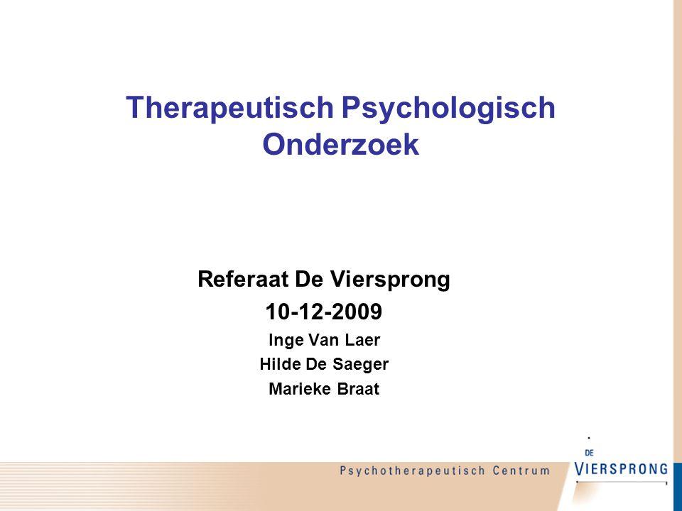 Therapeutisch Psychologisch Onderzoek