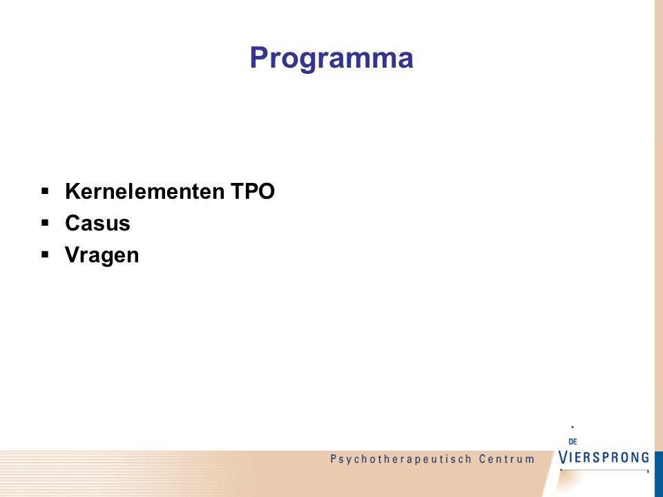 Programma Kernelementen TPO Casus Vragen