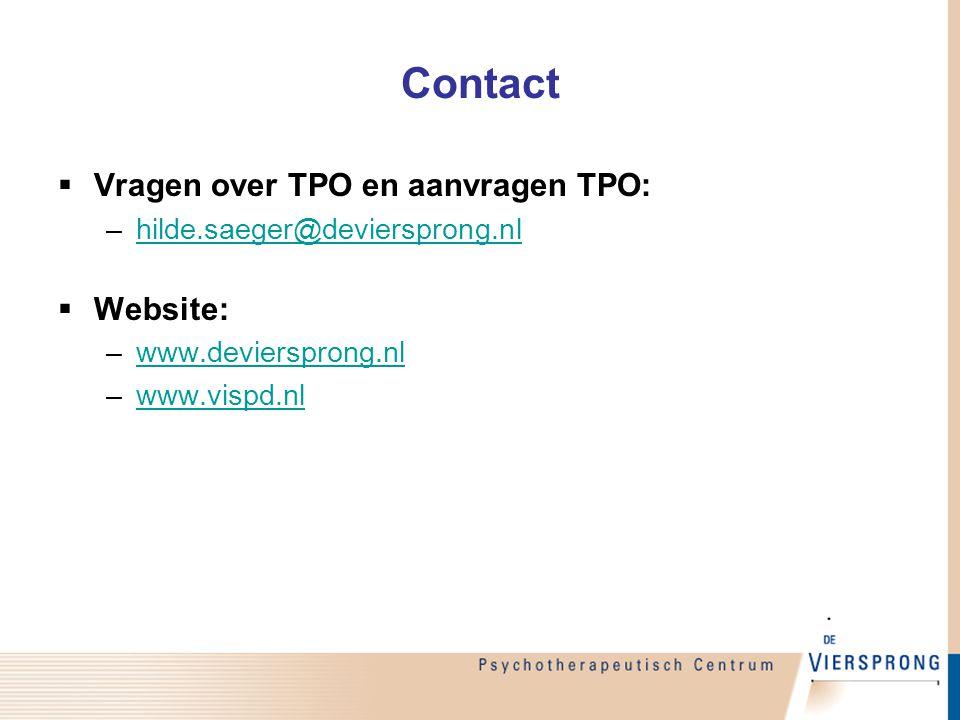 Contact Vragen over TPO en aanvragen TPO: Website: