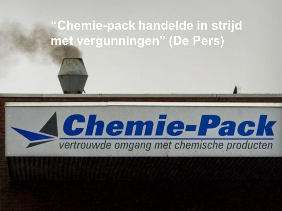 Chemie-pack handelde in strijd met vergunningen (De Pers)