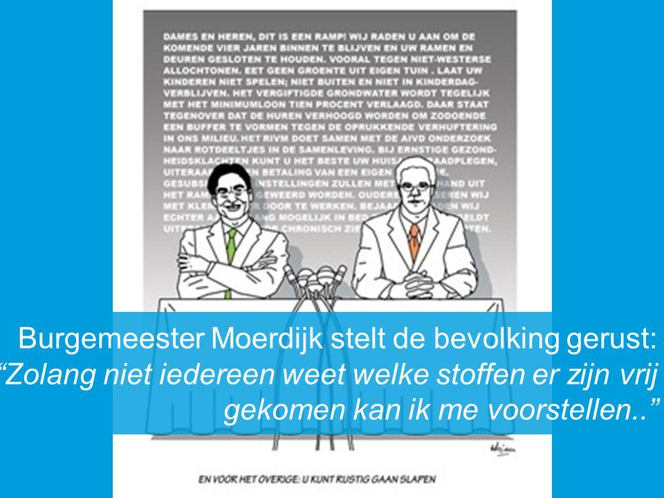 Burgemeester Moerdijk stelt de bevolking gerust: