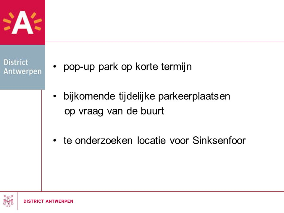 pop-up park op korte termijn