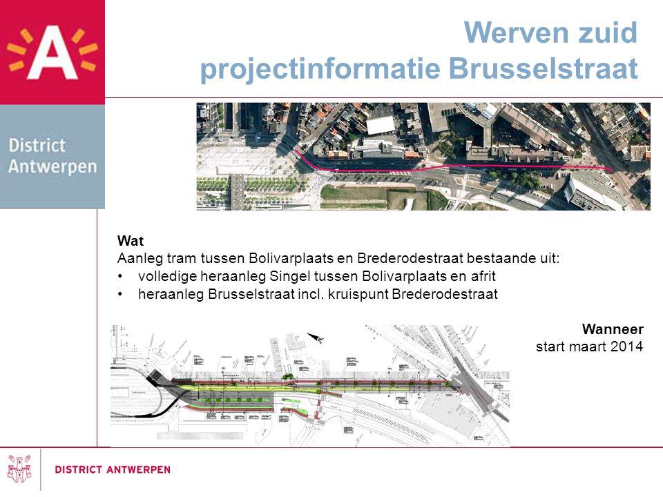 Werven zuid projectinformatie Brusselstraat