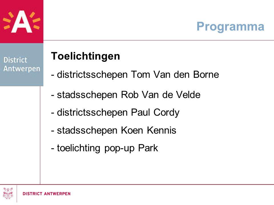 Toelichtingen - districtsschepen Tom Van den Borne