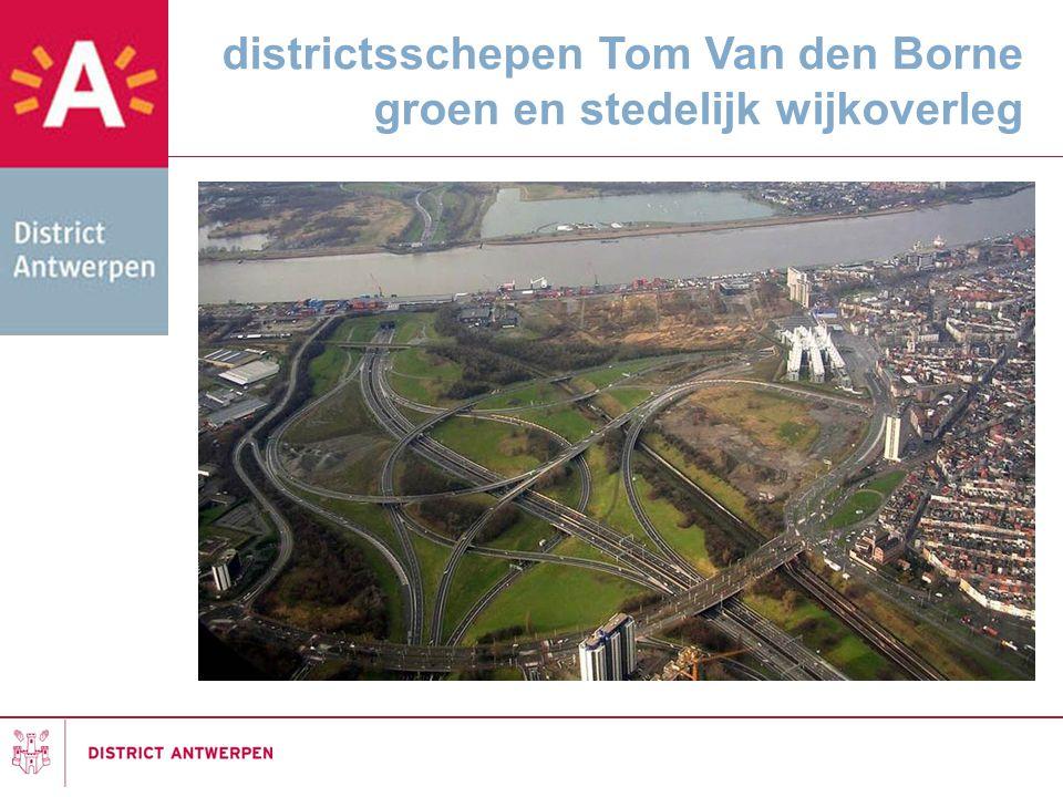 districtsschepen Tom Van den Borne groen en stedelijk wijkoverleg