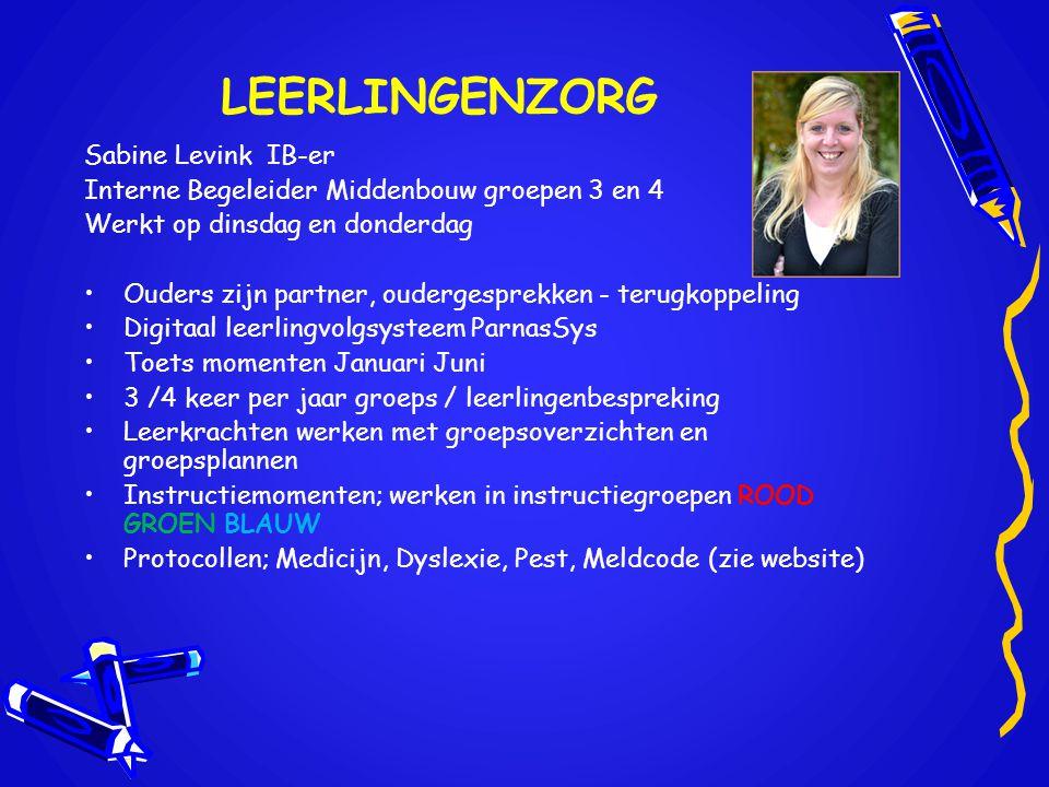 LEERLINGENZORG Sabine Levink IB-er