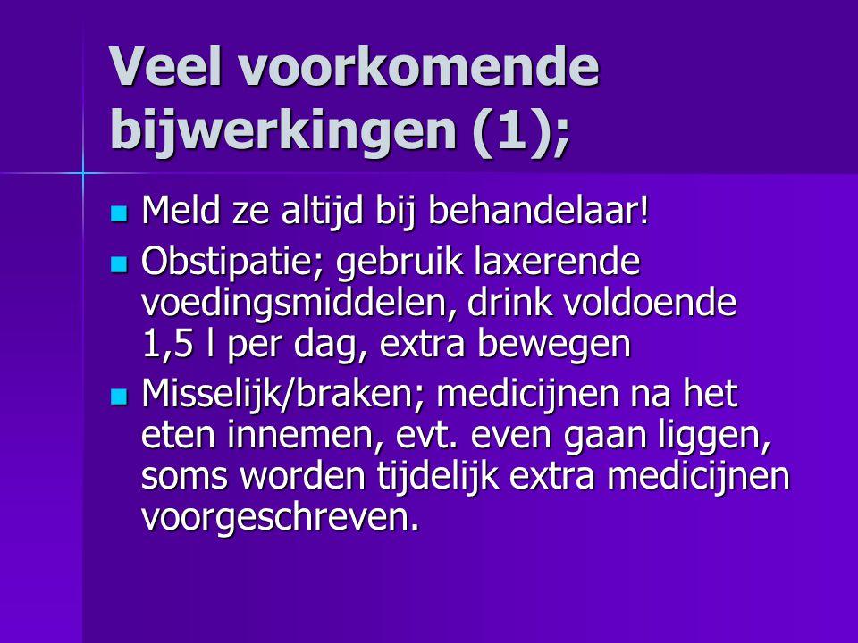 Veel voorkomende bijwerkingen (1);