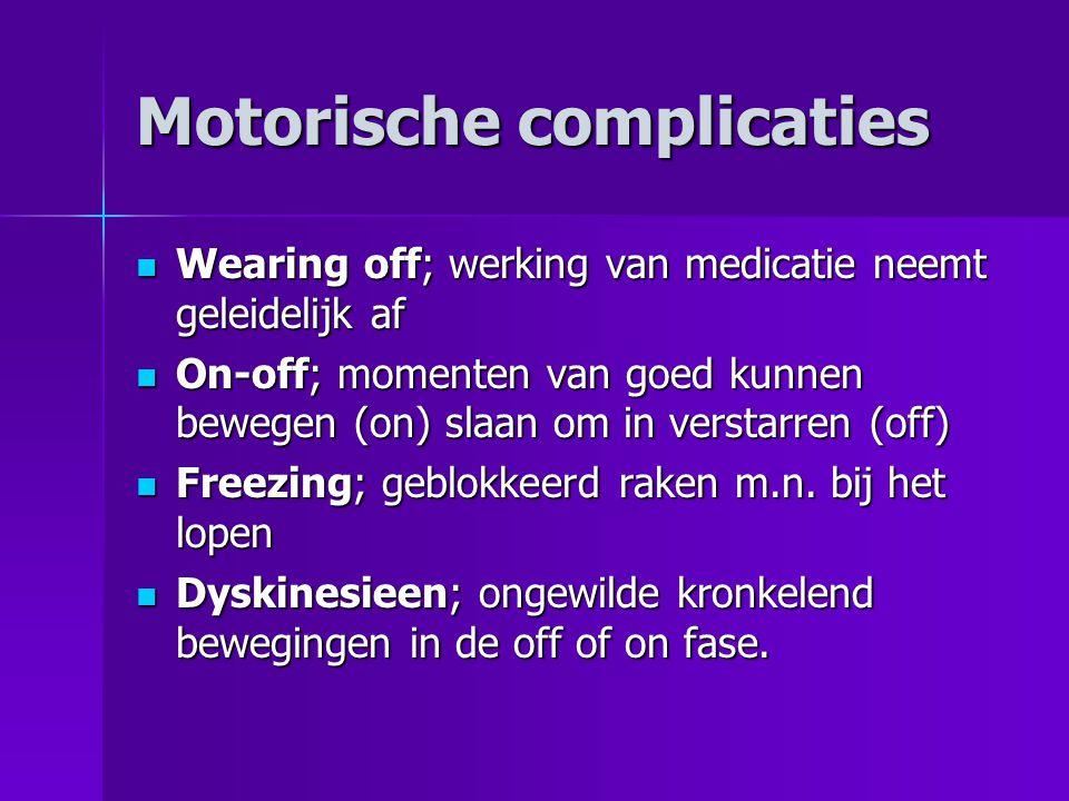 Motorische complicaties