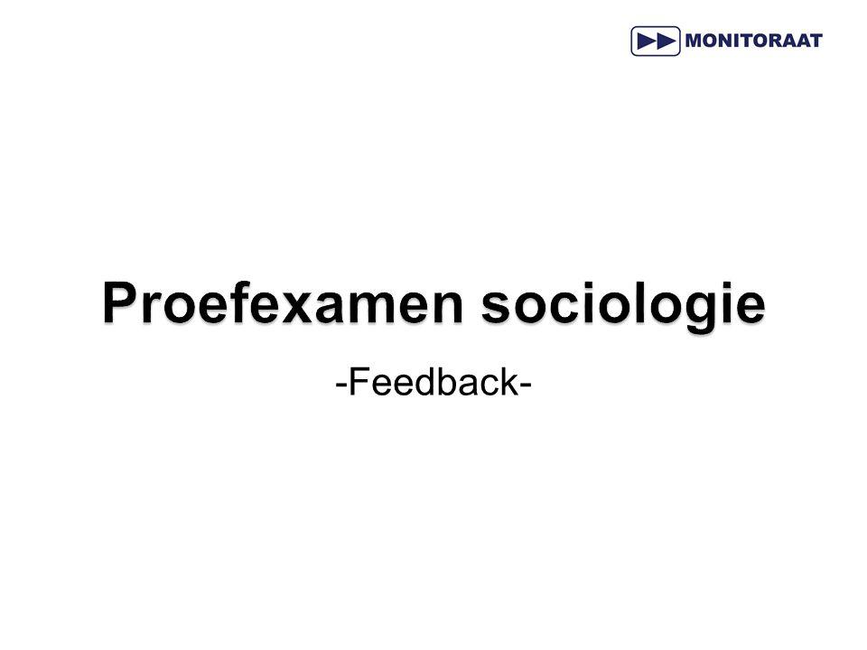 Proefexamen sociologie