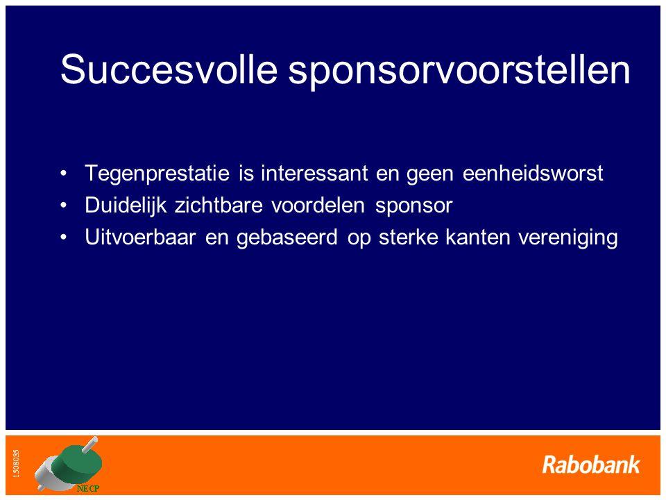 Succesvolle sponsorvoorstellen