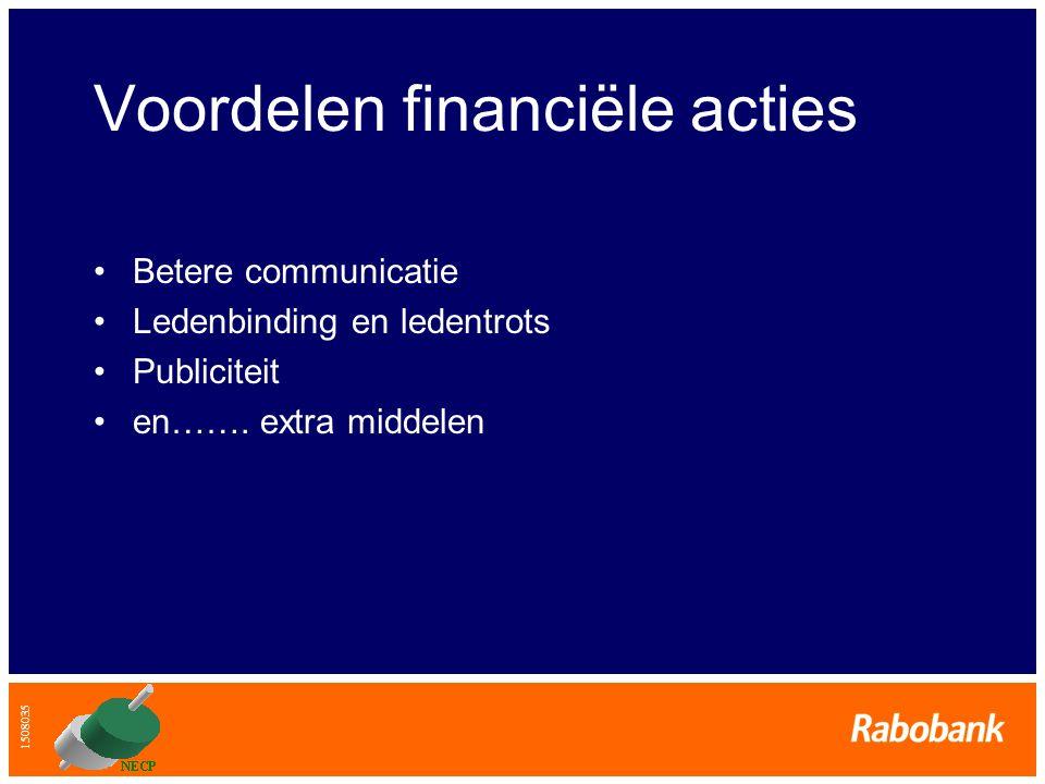Voordelen financiële acties