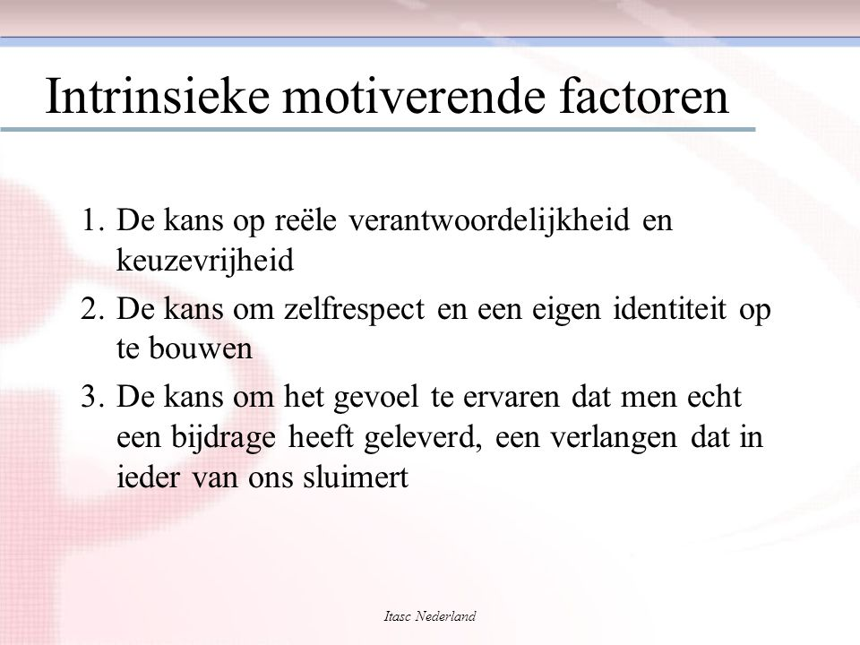 Intrinsieke motiverende factoren