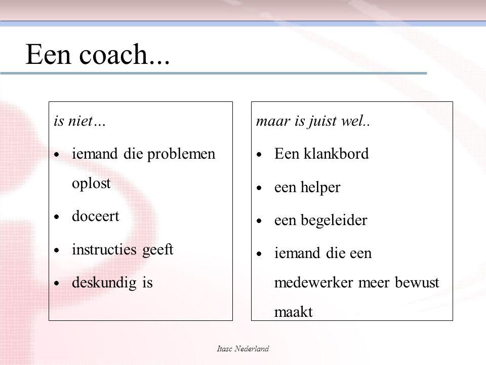Een coach... is niet… iemand die problemen oplost doceert