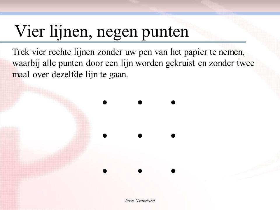 Vier lijnen, negen punten
